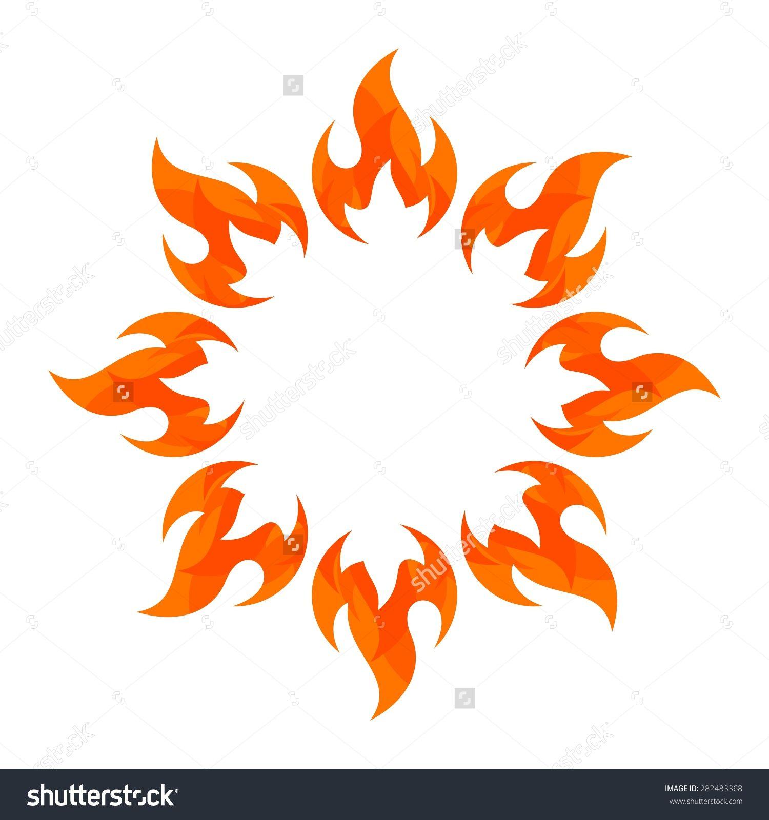 Fireball clipart flame design. Fire logo vector template