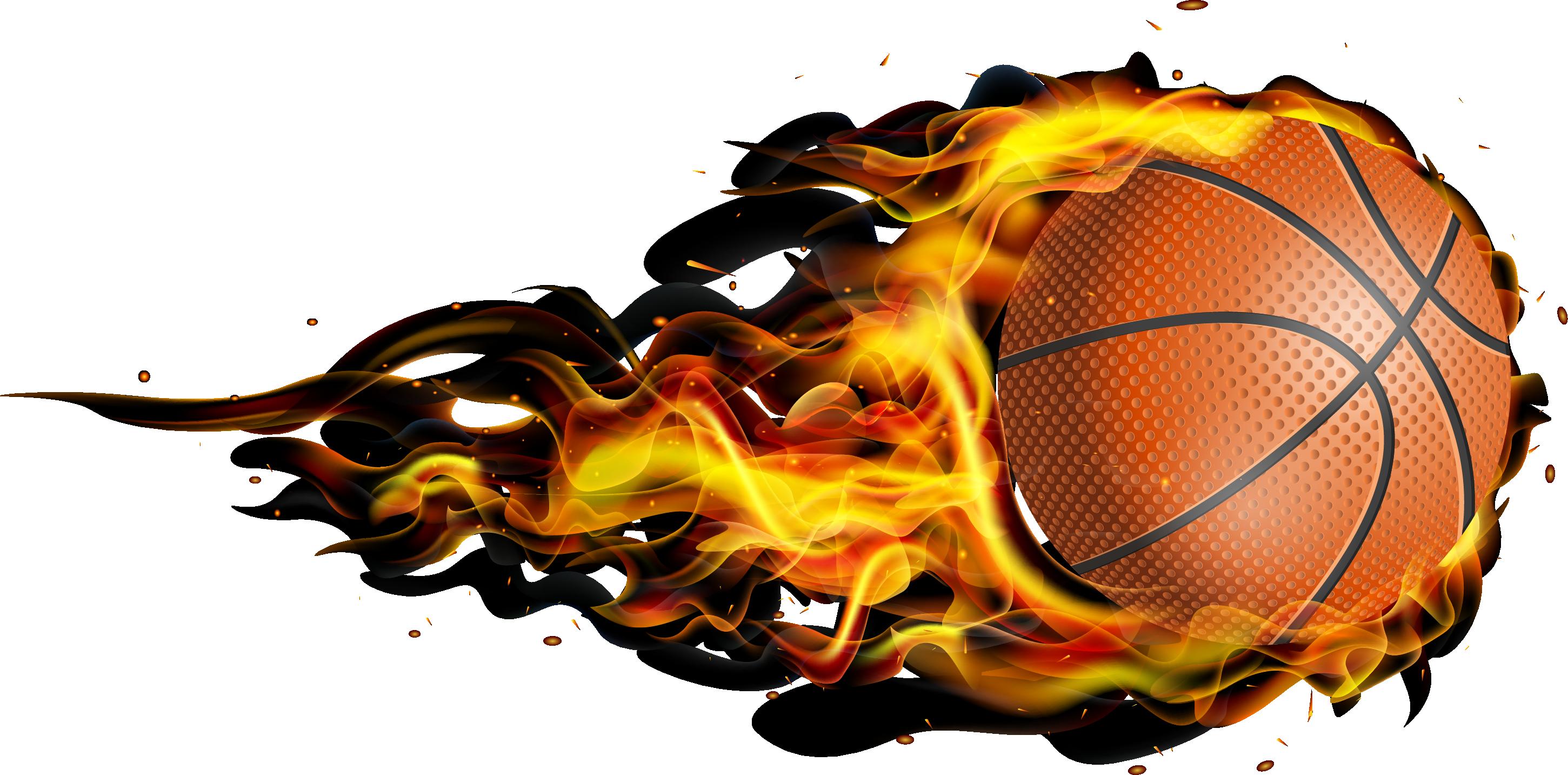 Fireball clipart flame design. Flying basketball transprent png
