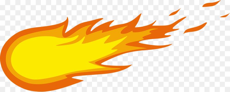 Cartoon illustration yellow orange. Fireball clipart flame design