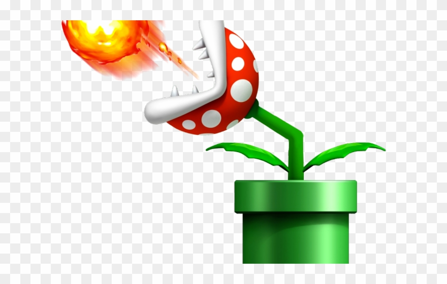 Fireball clipart mario. Super fire plant png