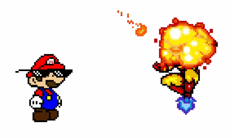 Fireball clipart pixel mario. Download for free png