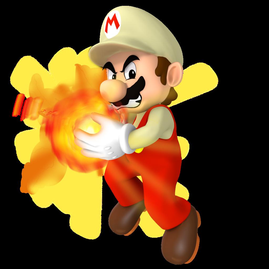 Fireball clipart super mario. Smbz fire render by