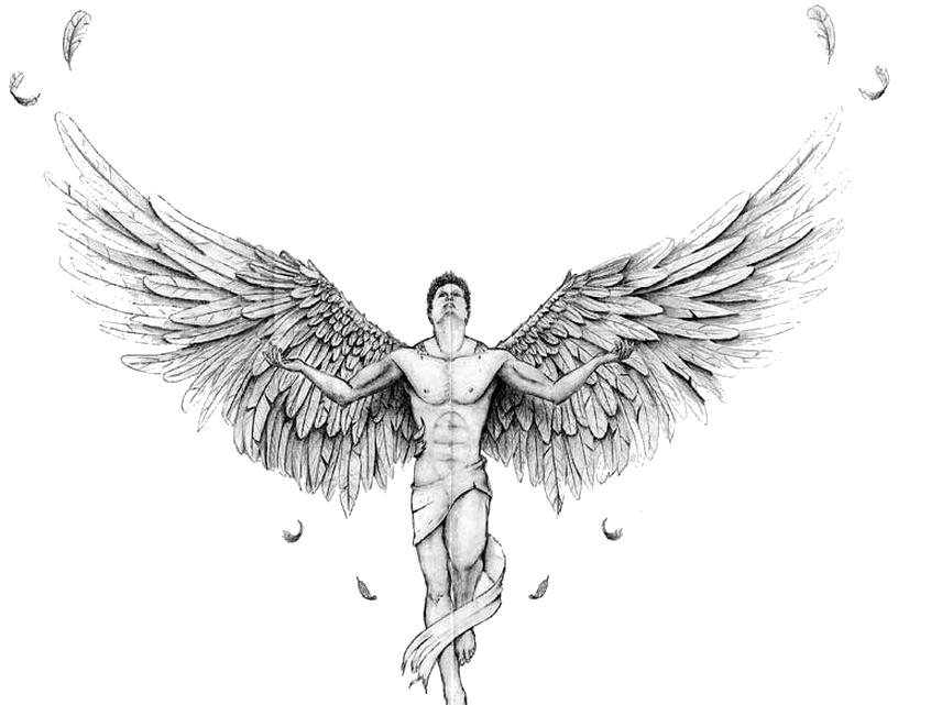 Fireball clipart tattoo. Download angel tattoos transparent