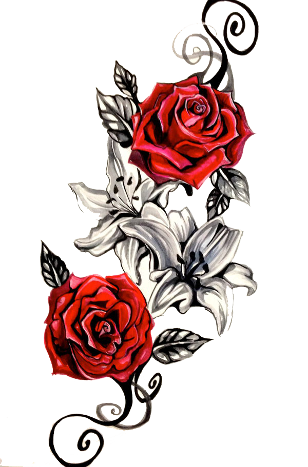 Download tattoo png hq. Rose clipart snake