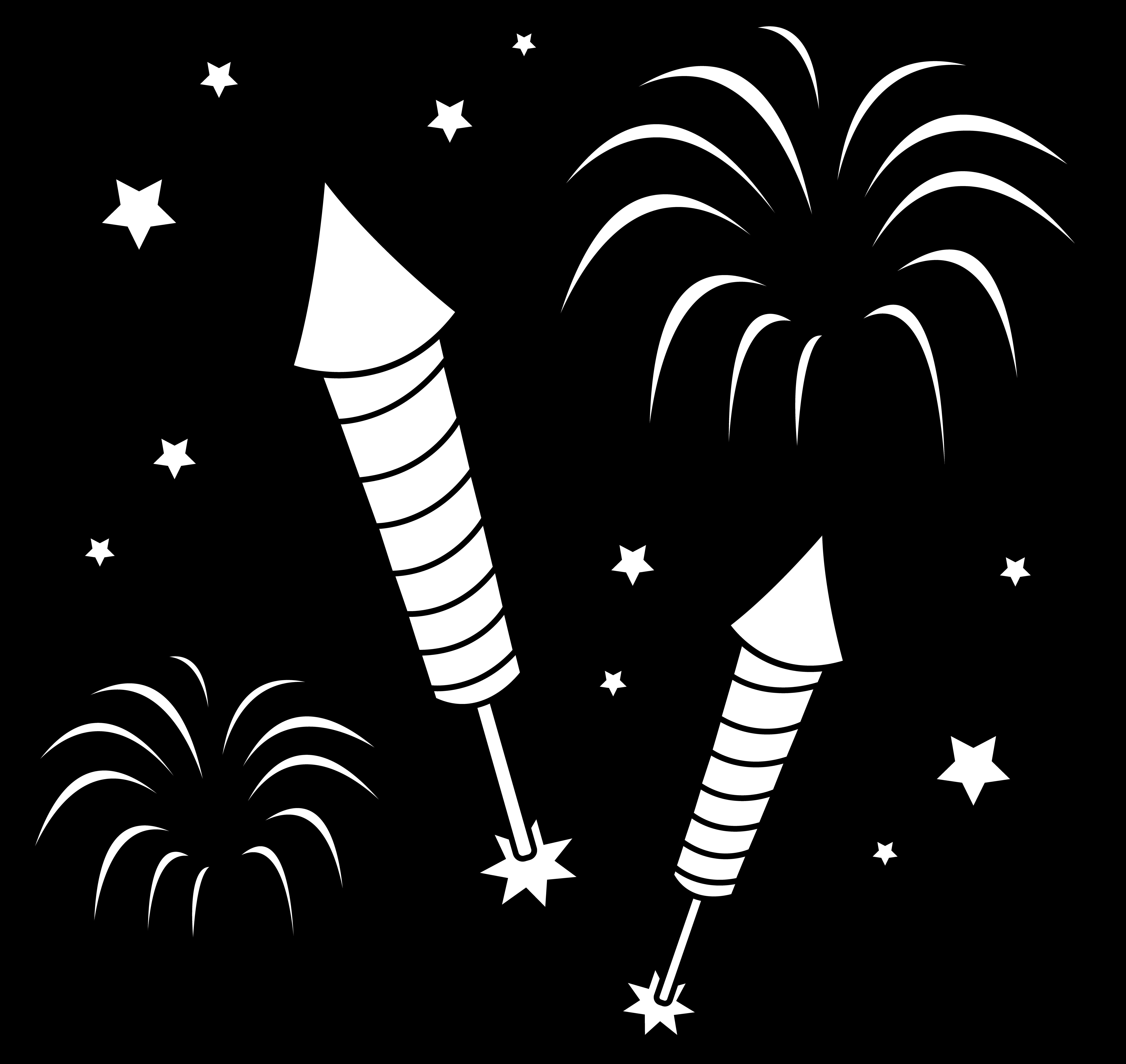 Exelent firework coloring pages. Firecracker clipart bonfire night