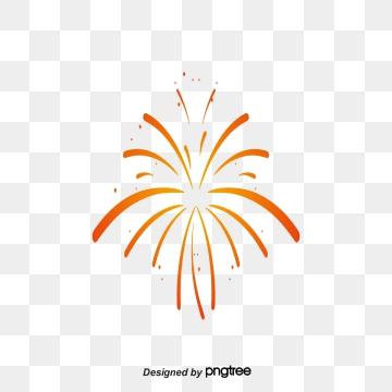 Golden fireworks png vector. Firecracker clipart burst