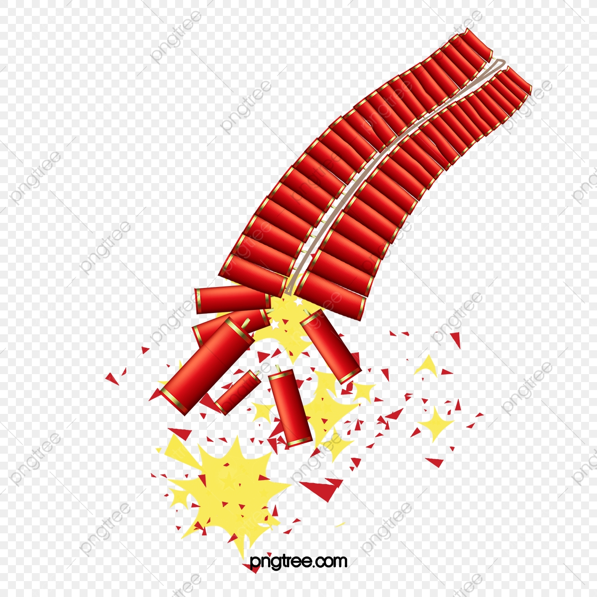Firecracker clipart firecracker chinese. Firecrackers spring new year