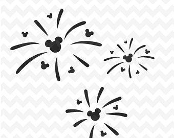 Fireworks svg etsy . Firecracker clipart mickey