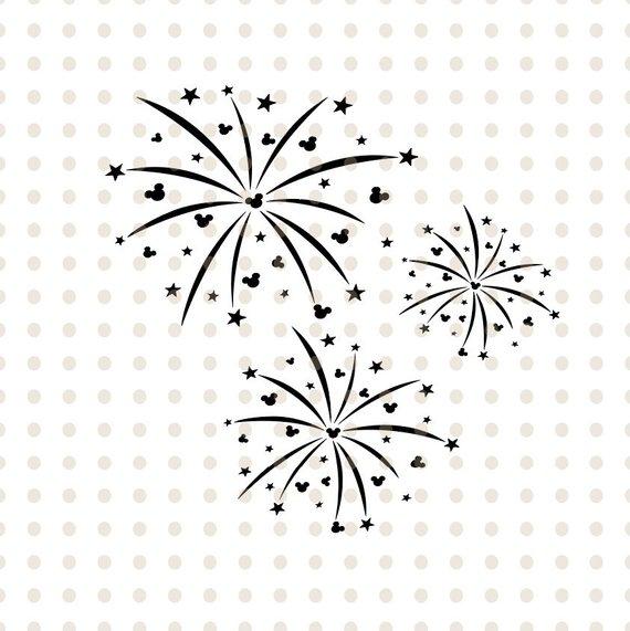 Firecracker clipart mickey. Mouse head svg fireworks