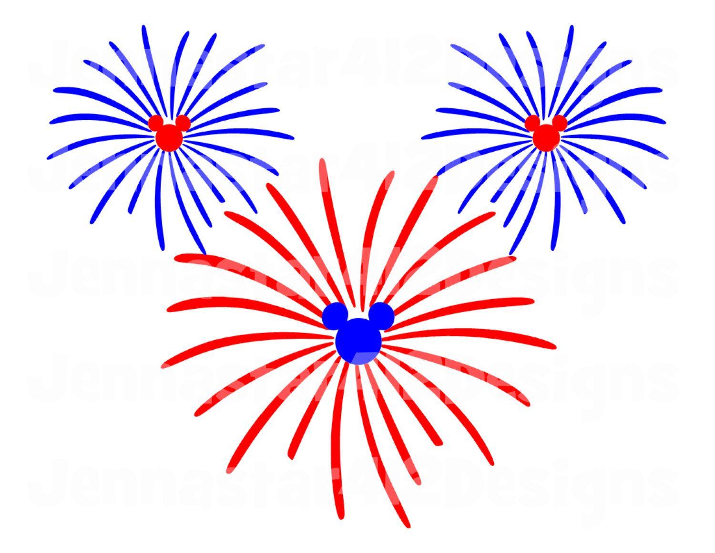 Firecracker clipart mickey. Disney inspired fireworks patriotic