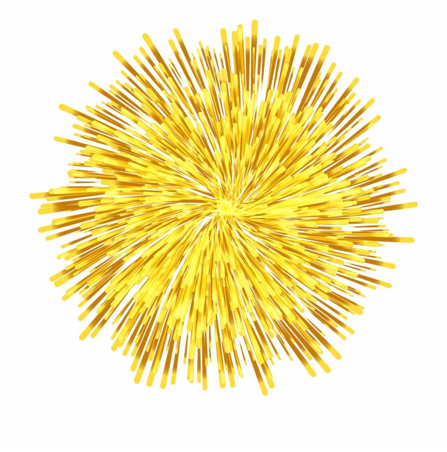 Transparent clip art fireworks. Firework clipart yellow