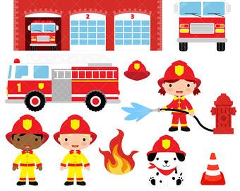 Fireman etsy fire fighter. Firefighter clipart