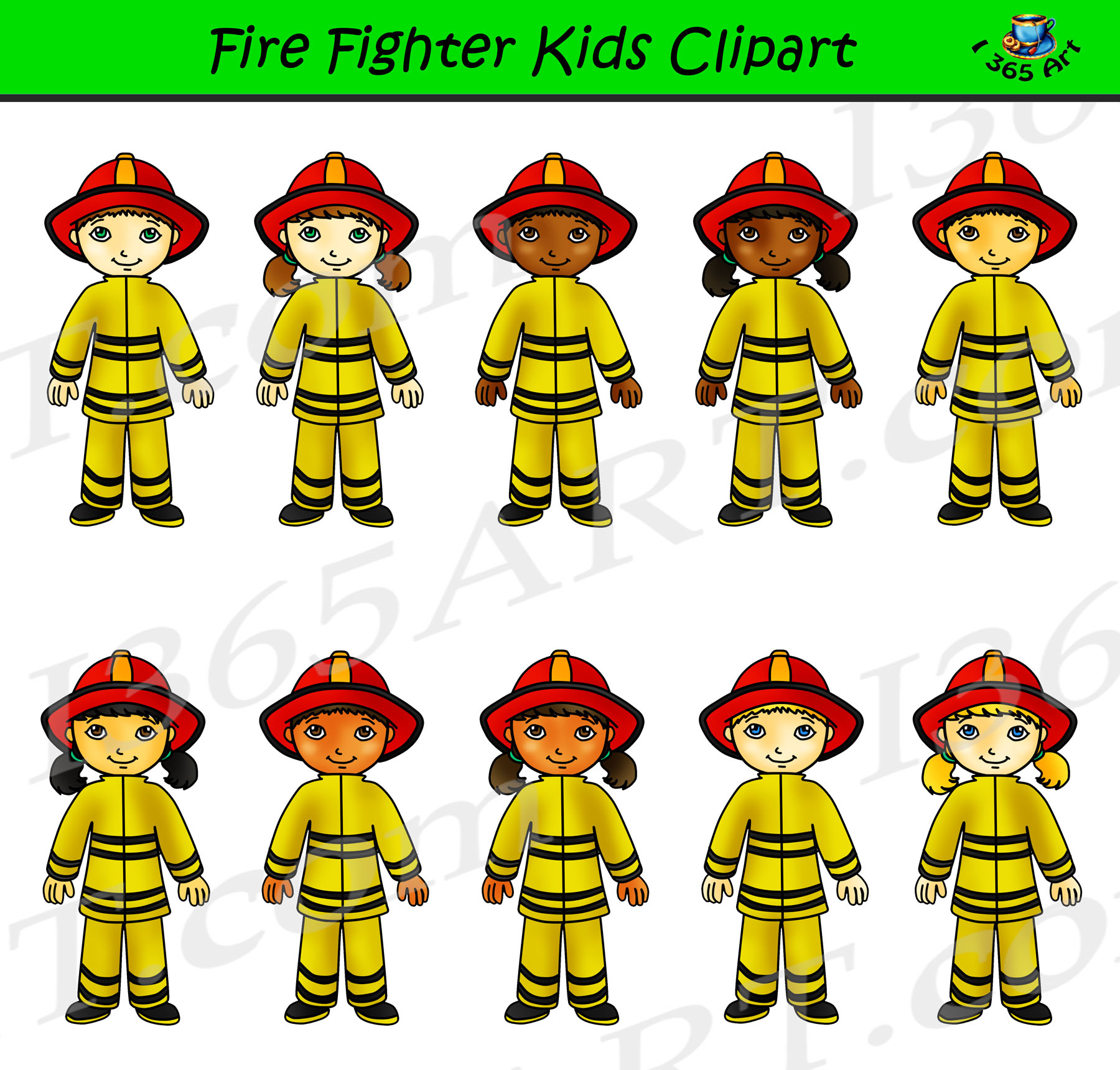 Kids career day graphics. Firefighter clipart