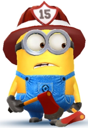 Firefighter clipart. Minion what