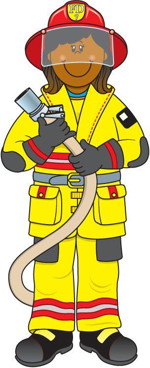 Helper firefighter school learning. Fireman clipart community worker
