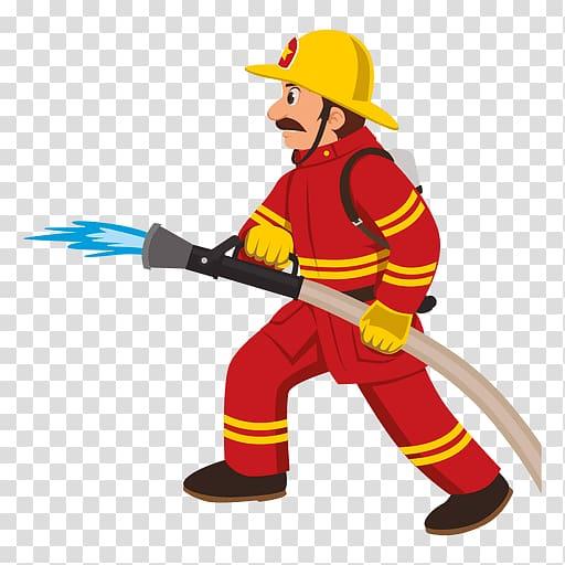 Fireman clipart fire prevention. Firefighter cartoon department transparent