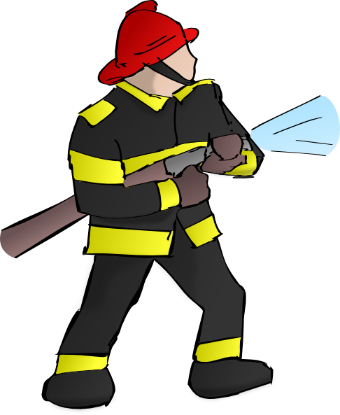 Fireman clipart figther. Free cartoon firefighter pictures