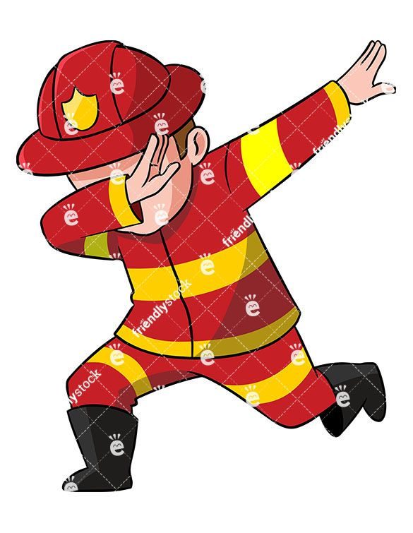 Dabbing yahoo in . Firefighter clipart attached