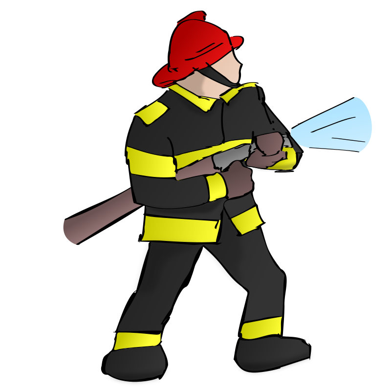 firefighter clipart background