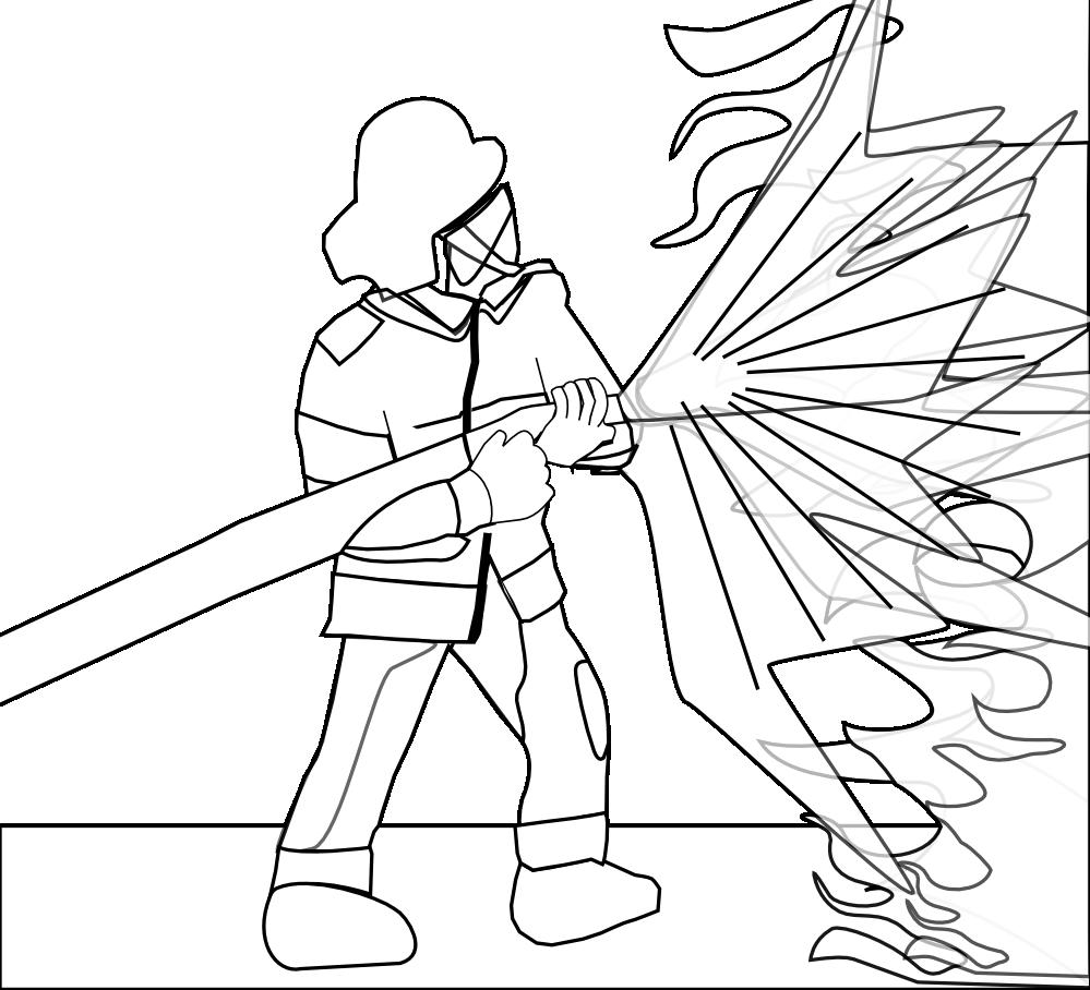 Firefighter clipart black and white. Clipartist net clip art