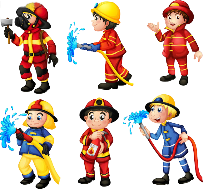 Firefighter clipart building. Fire engine station clip