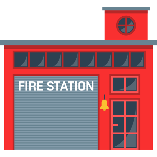 Fire mail . Firefighter clipart building