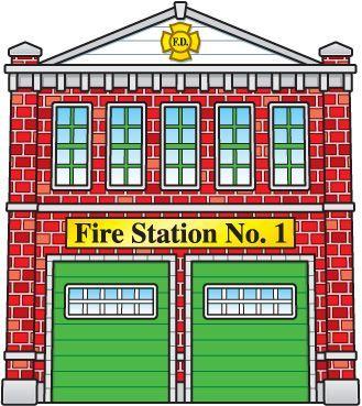 Brandweerkazerne backdrops fire trucks. Firefighter clipart building