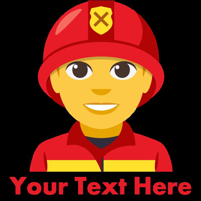 Emoji personalized kids trucker. Firefighter clipart cap