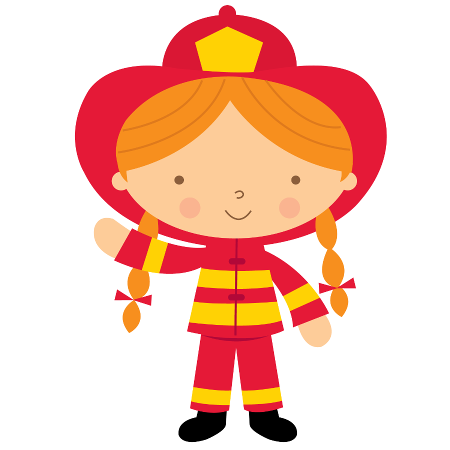 Firefighter clipart child. Bombeiros e pol cia