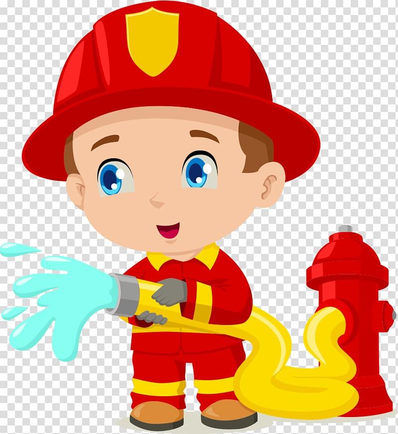 Firefighter clipart child. Fireman illustration cartoon