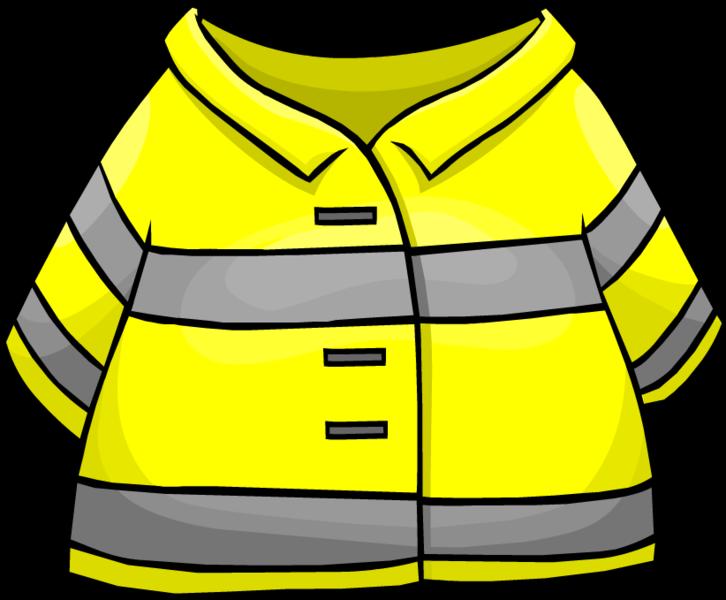 Firefighter clipart coat. Image jacket clothing icon