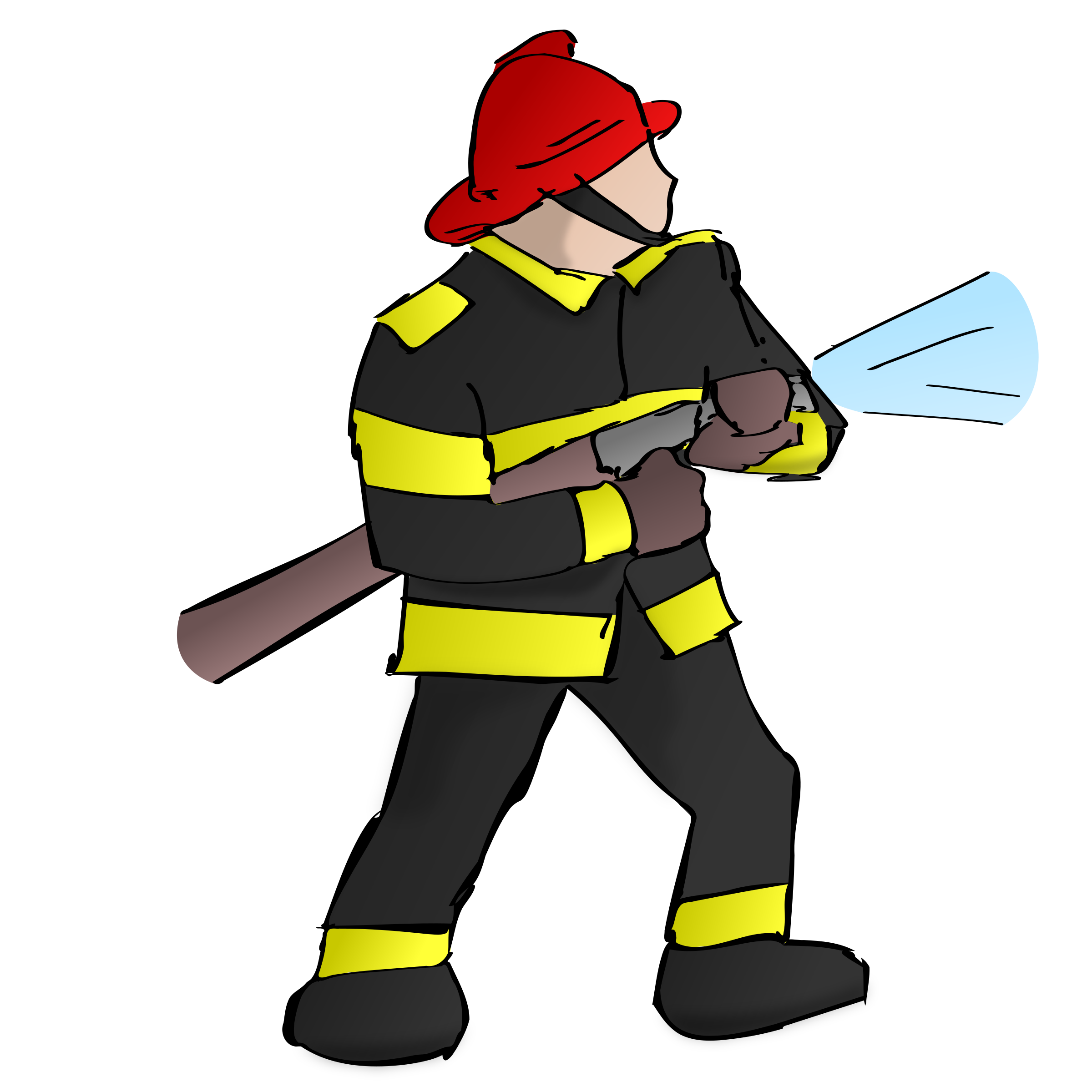 collection of firefighter. Person clipart fire