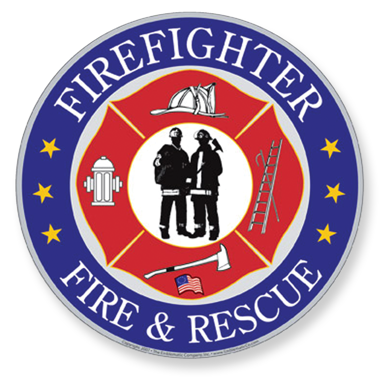 Firefighter clipart emblem. Magnetic emblems related products