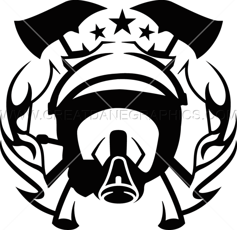 Firefighter clipart emblem. Fire fighter production ready