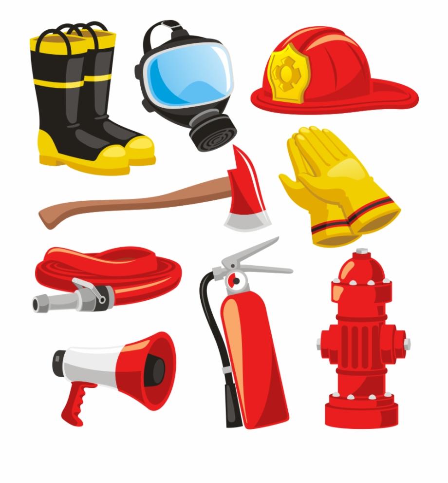 Firetruck clipart firefighter equipment. Firefighters helmet bunker gear