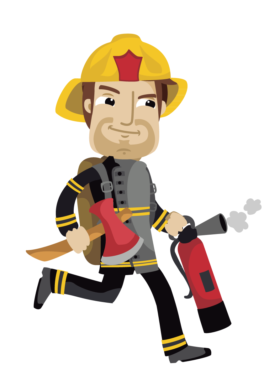 Sam firefighter cartoon hand. Fireman clipart worker indian