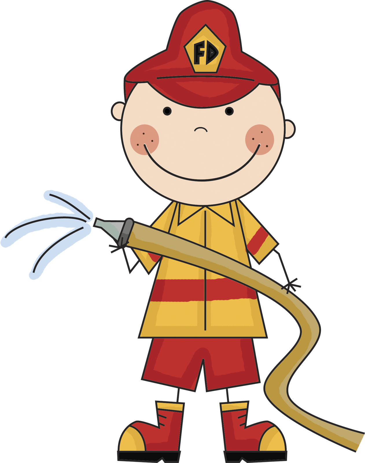 This is free fireman. Firefighter clipart fire drill