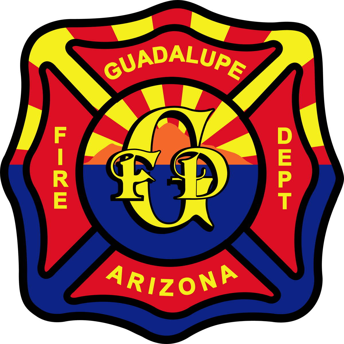 Departments town of guadalupe. Firefighter clipart fire hall