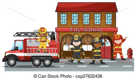 Department look at clip. Firefighter clipart fire hall