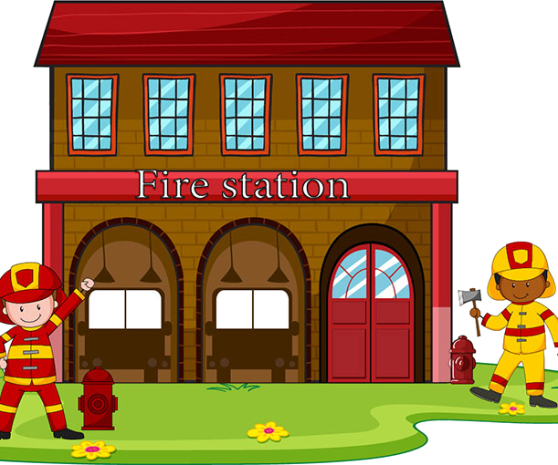 Firefighter clipart fire house. Station transparent png azpng