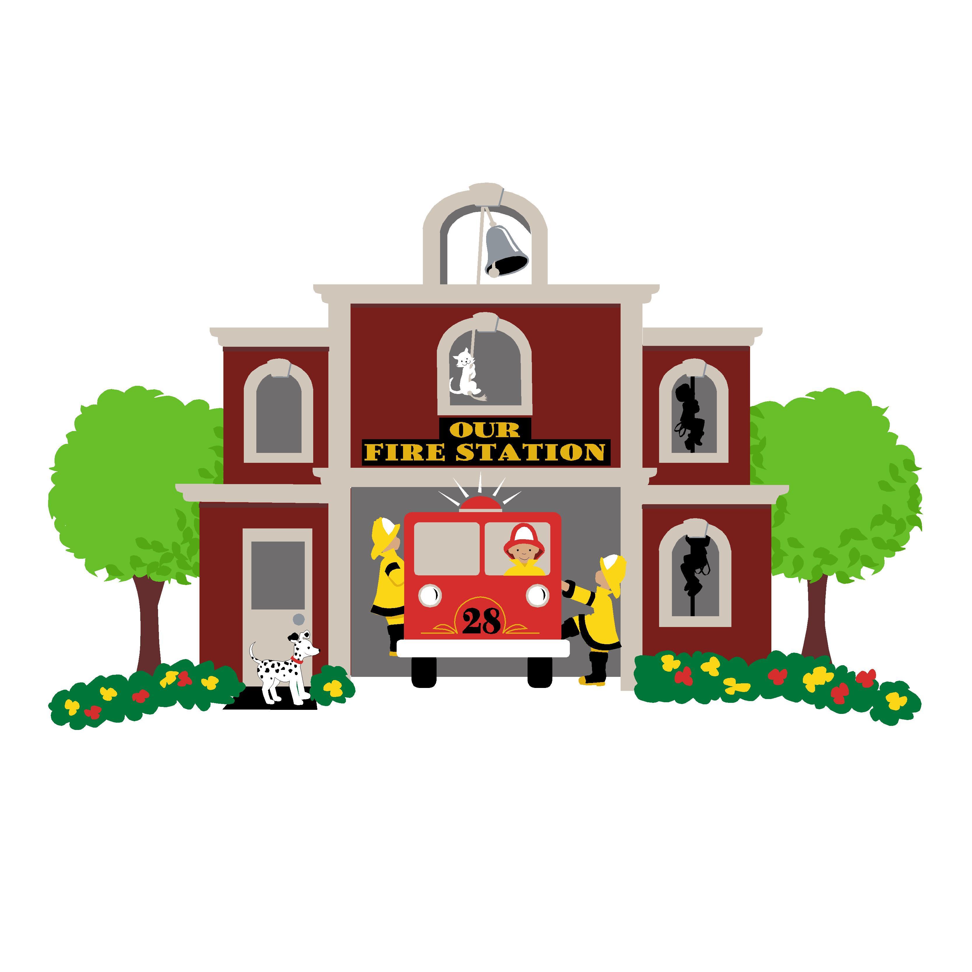 Firefighter clipart fire house. Department clip art look