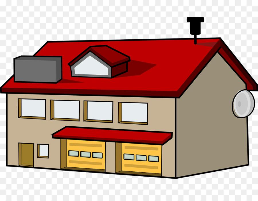 Cartoon home transparent . Firefighter clipart fire house