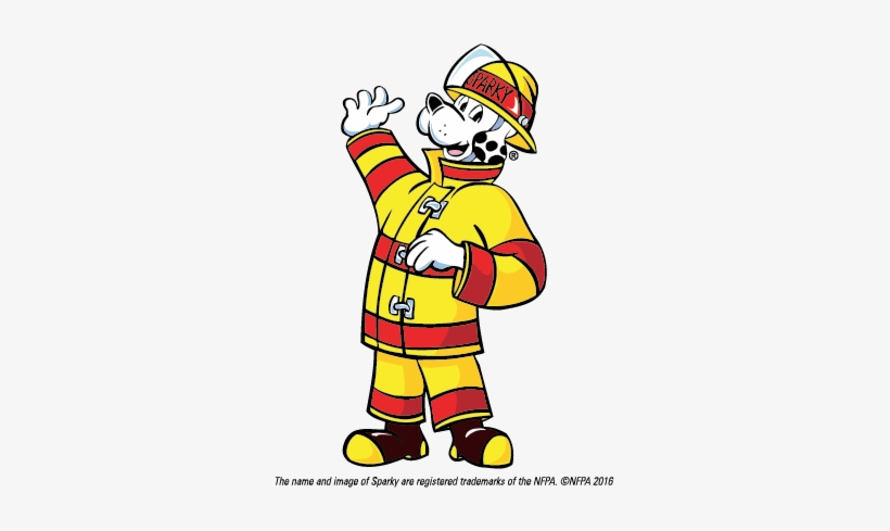 Firefighter clipart fire inspector. Inspection prevention sparky