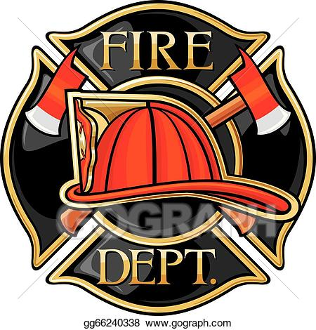 Firefighter clipart fire rescue. Vector art department drawing