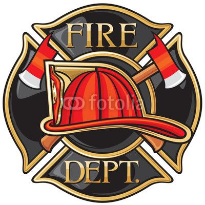 Department or firefighters maltese. Fireman clipart fire marshal