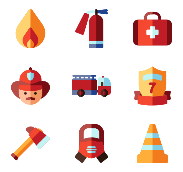 Fireplace clipart vector.  firefighter icon packs