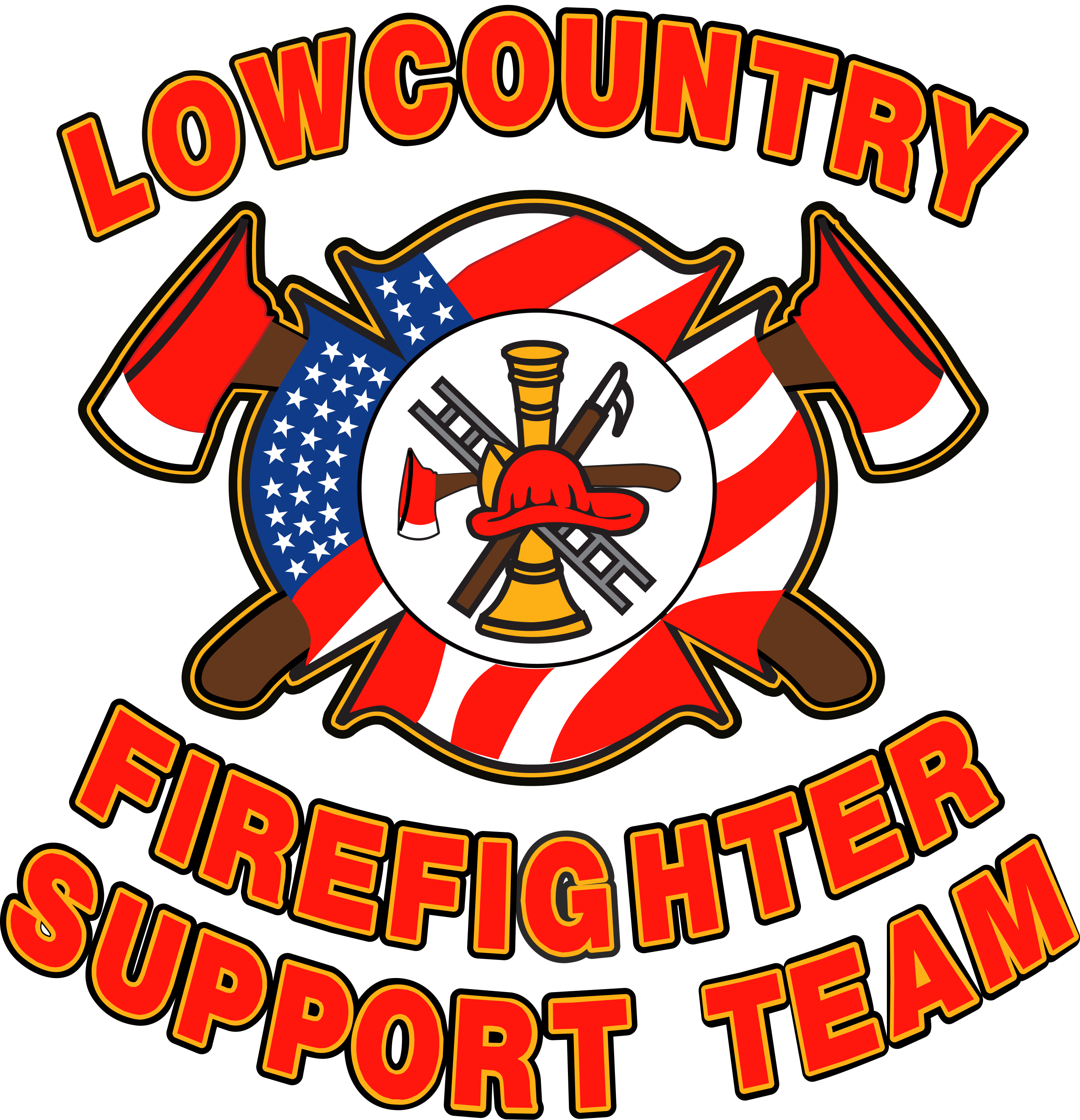 Firefighter clipart firefighter team. Lowcountry support lffstemblempng