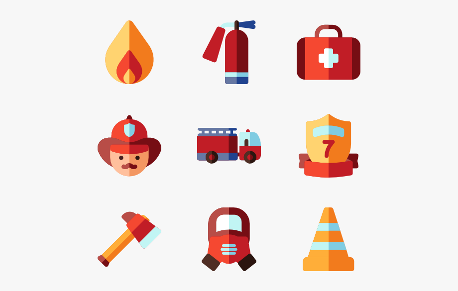 Firefighter clipart firefighter team. Fire department icons
