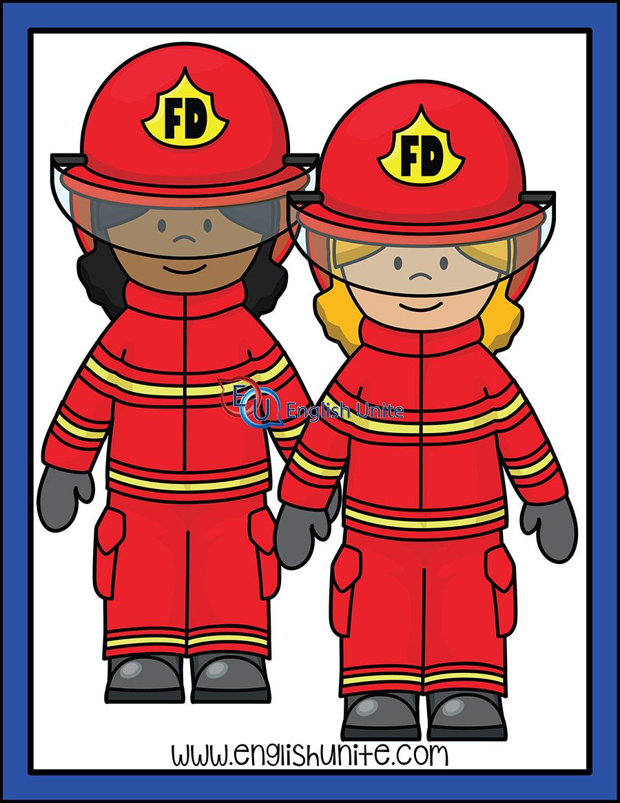 Firefighter clipart firefighter team. Firefighters woman