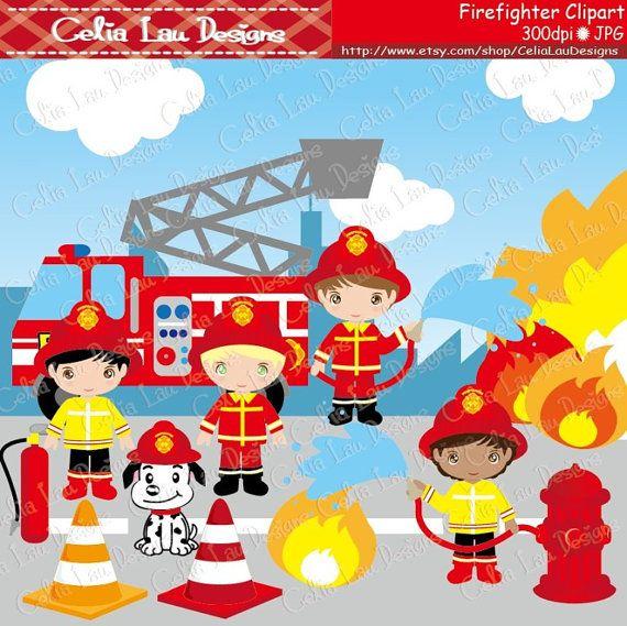 Cute fireman clip art. Firefighter clipart firefighter team
